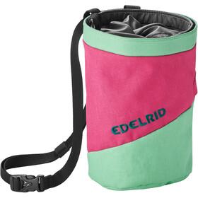 Edelrid Splitter Twist Sacchetto porta magnesite, rosa/verde